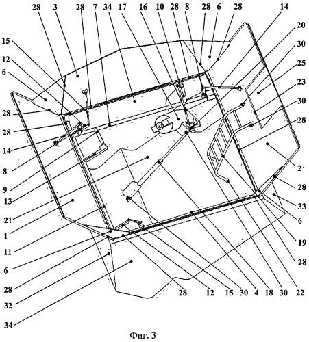 Механизм трансформации бункера