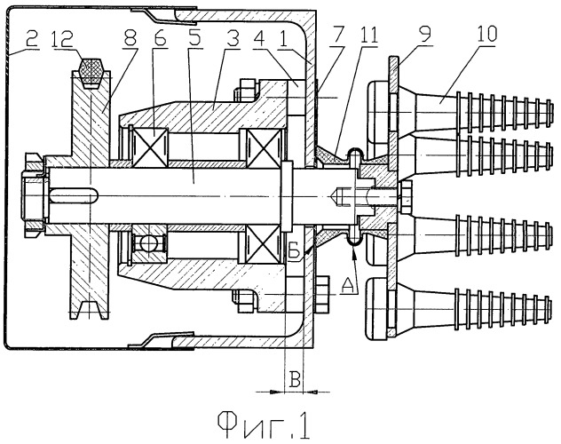 Приводной механизм к рабочим органам машины для снятия оперения с тушек птицы
