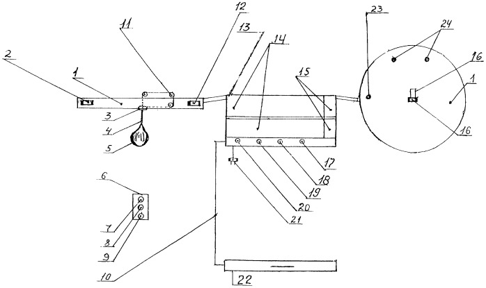 Программный электронно-механический комплекс с дистанционно-модульным и компьютерным управлением для тренировки боксеров