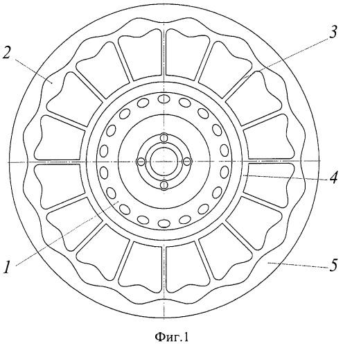 Автомобильная шина с упругими спицами