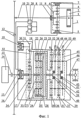 Гибридный силовой агрегат (варианты)