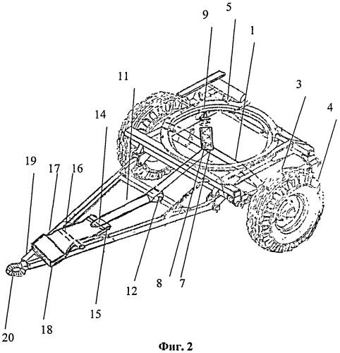 Увеличитель сцепного веса колесных транспортных средств при их агрегатировании с прицепами