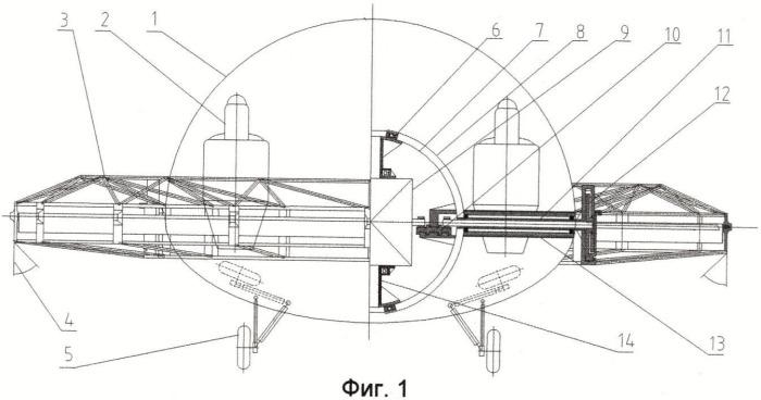 Летательный аппарат вертикального взлета-посадки с кольцевым крылом без реактивного момента
