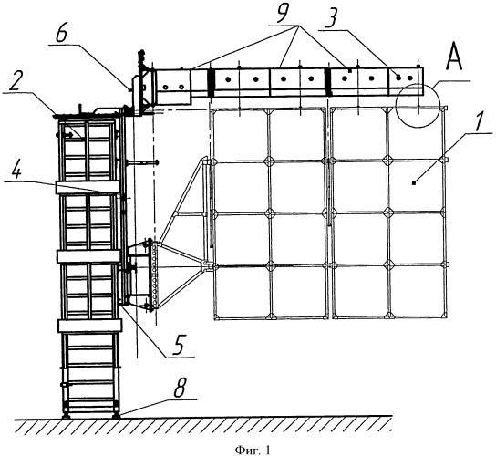 Стенд раскрытия панелей солнечной батареи