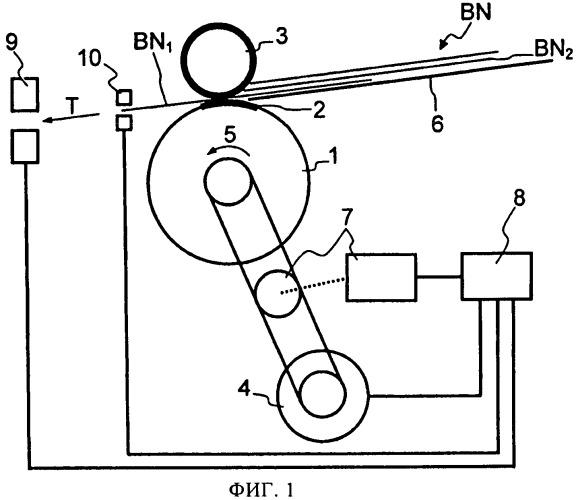 Способ и устройство контроля за процессом поштучного отделения листового материала от стопки