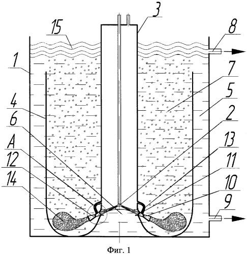 Устройство для очистки нефтесодержащих сточных вод