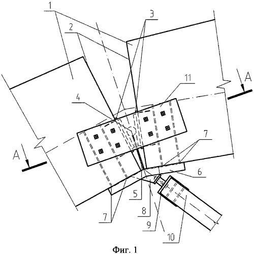 Шарнирный узел сопряжения деревянных элементов в ферме