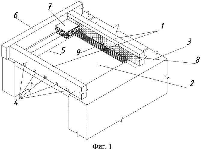 Опалубка для монолитной железобетонной плиты перекрытия