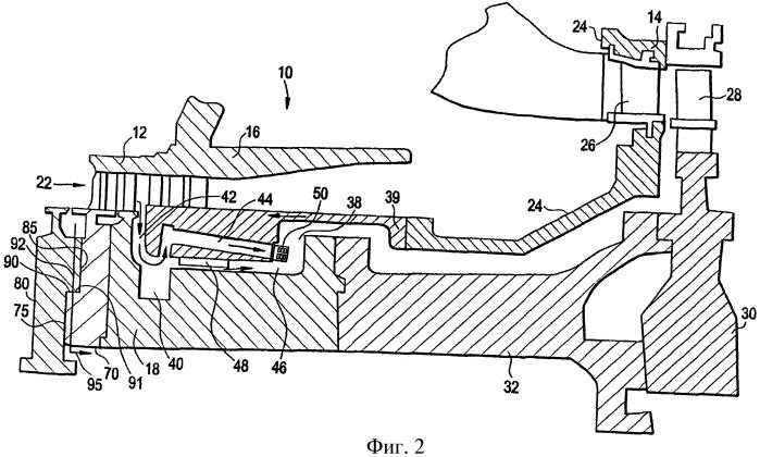 Устройство для перемещения потока в газотурбинном двигателе