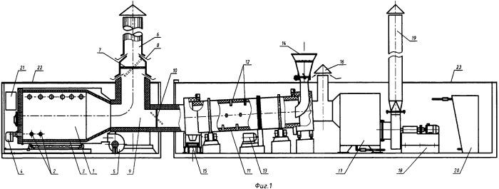 Универсальная установка для утилизации попутного нефтяного газа и нефтяных отходов бурения