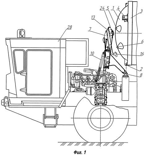 Устройство для автоматического сброса и улавливания крышки транспортно-пускового контейнера, установленного на пусковой установке