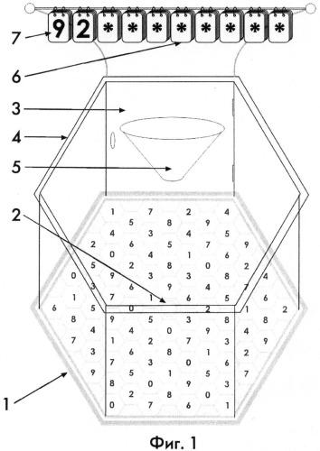 Система и устройство для случайного определения цифр разыгрываемого номера