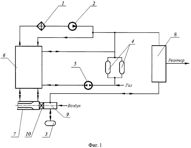 Система для пневматической транспортировки тритийвоспроизводящих детекторов в канале наработки трития бланкета термоядерного реактора