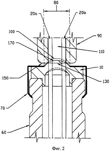 Способ повышения сопротивляемости утечке в закрытой находящейся под давлением системе, содержащей контейнер, закупоренный мембраной