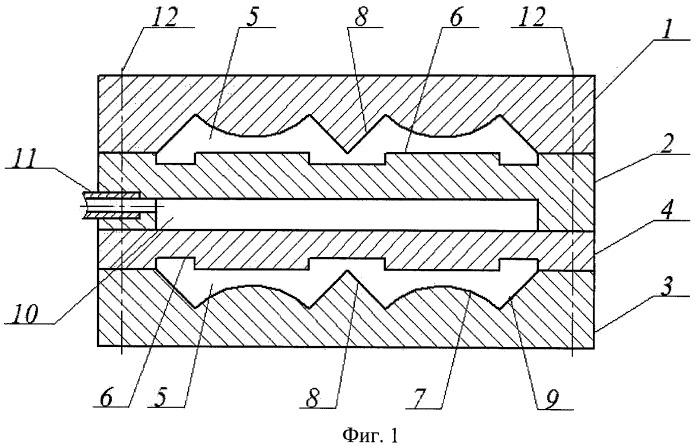 Двухканальная экструзионная головка для изготовления полимерной рейки