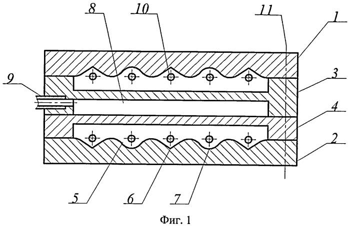 Двухканальная экструзионная головка для изготовления полимерной сложнопрофильной рейки