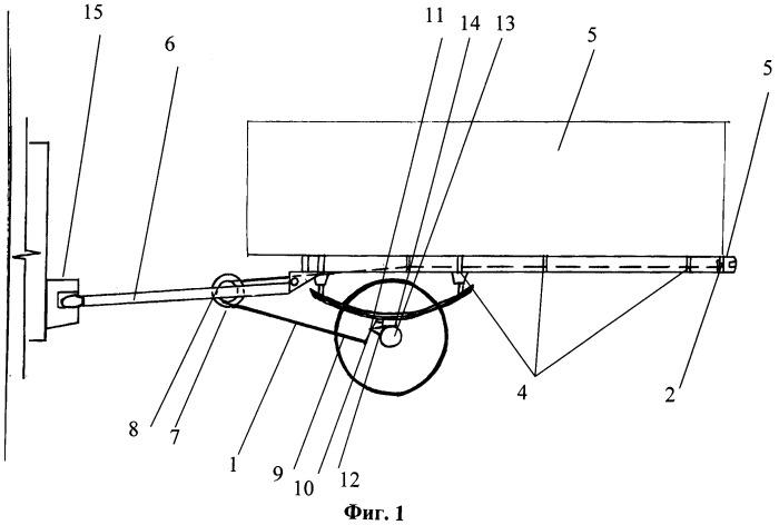 Тросовый увеличитель сцепного веса колесных транспортных средств при их агрегатировании с прицепами