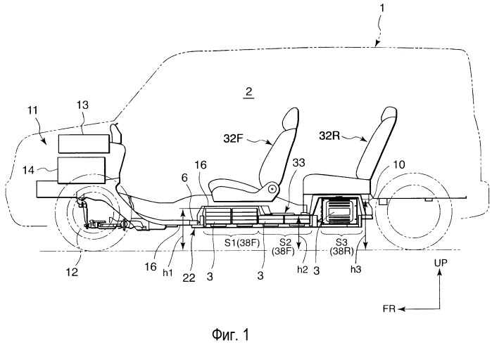 Конструкция для установки аккумуляторных батарей транспортного средства
