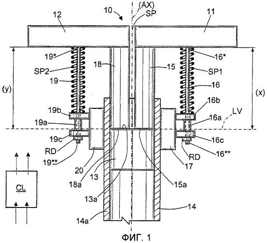 Педальный механизм торможения и руления-посредством-торможения для тракторов