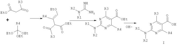 Способ получения замещенных пиримидин-5-илкарбоновых кислот