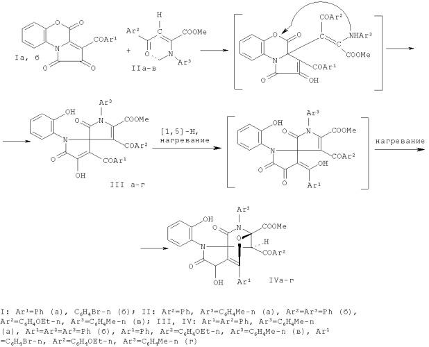 6'-арил-2'-(2-гидроксифенил)-11',11'-диметил-3',4,4',13'-тетраоксоспиро[2,5-циклогексадиен-1,9'-(7'-окса-2',12'-диазатетрацикло[6.5.1.01,5.08,12]тетрадец-5'-ен)]-14'-карбоксилаты и способ их получения