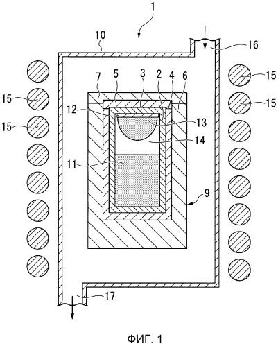 Устройство для производства монокристаллического нитрида алюминия, способ производства монокристаллического нитрида алюминия и монокристаллический нитрид алюминия