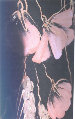 Способ образования рисунка на текстильных материалах вручную