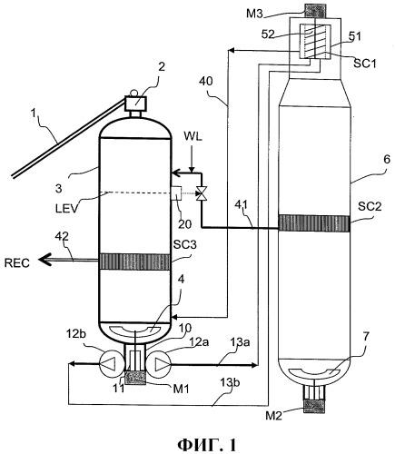 Система подачи, включающая насосы в параллельной компоновке, для варочного котла непрерывного действия