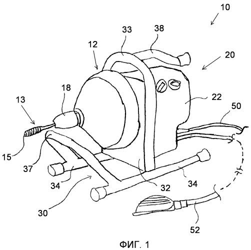 Механизированная машина для очистки дренажных труб