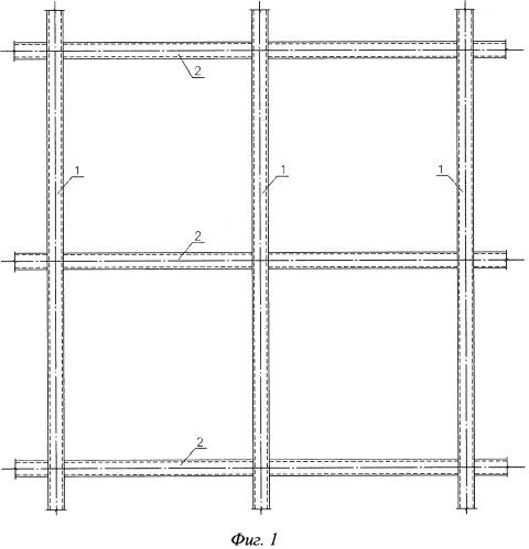 Пространственная решетчатая несущая конструкция