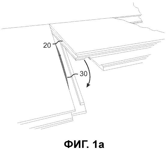 Механический фиксатор панелей пола, способы установки и разборки панелей, способ и оборудование для создания запирающего устройства, способ соединения смещаемого шипа с панелью и заготовка шипа
