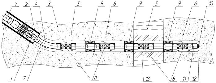 Способ разработки горизонтальной скважиной пласта с зонами различной проницаемости