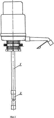 Входная вертикальная цилиндрическая трубка ручного насоса