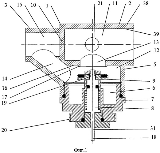 Клапан трехходовой для подключения прибора водяного отопления