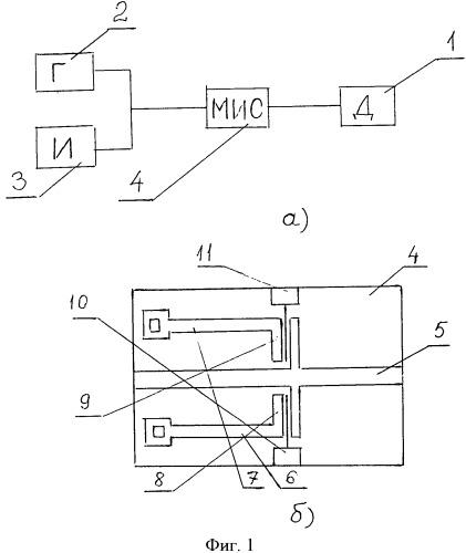 Устройство для измерения полного сопротивления двухполюсника на свч