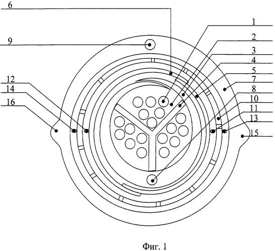 Трехкамерный оптический кабель связи