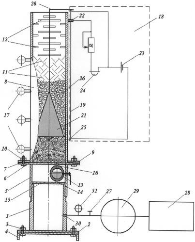 Стенд для исследования запирающей способности забоек взрывных скважин