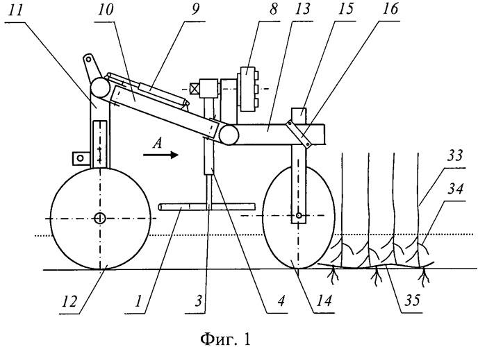 Устройство для вождения почвообрабатывающего орудия по рядкам растений