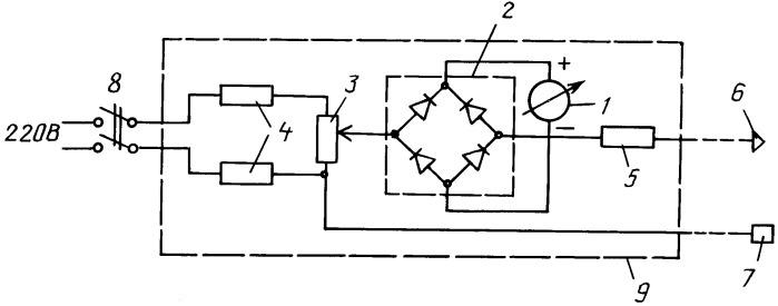 Устройство для поиска и воздействия на биологически активные точки переменным током