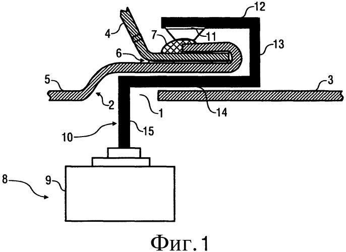 Аппликатор для нанесения герметика на стыковой шов с отбортовкой кромок и соответствующий способ его эксплуатации