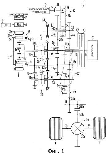 Устройство силовой передачи