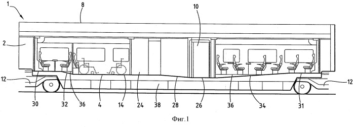Железнодорожный вагон с облегченным доступом для пассажиров с ограниченными физическими возможностями