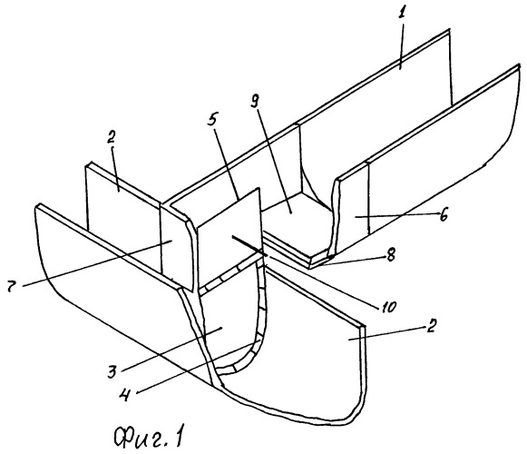 Пропорциональный вододелитель для лотковых каналов