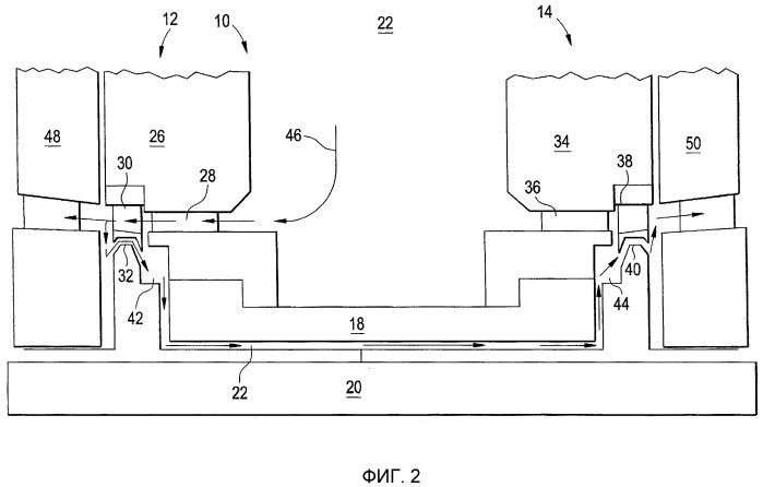 Устройство и способ охлаждения трубчатой зоны двухпоточной турбины