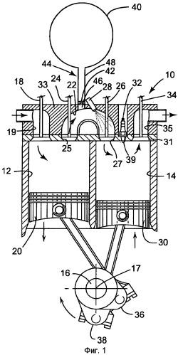 Воздушно-гибридный двигатель с расщепленным циклом и способ его эксплуатации