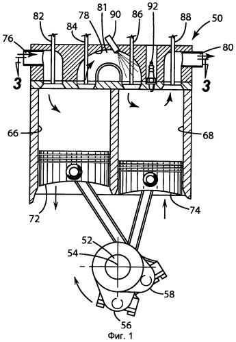 Двигатель с расщепленным циклом и способ управления им (варианты)