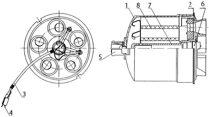 Стартовый двигатель имитатора боевого средства пзрк