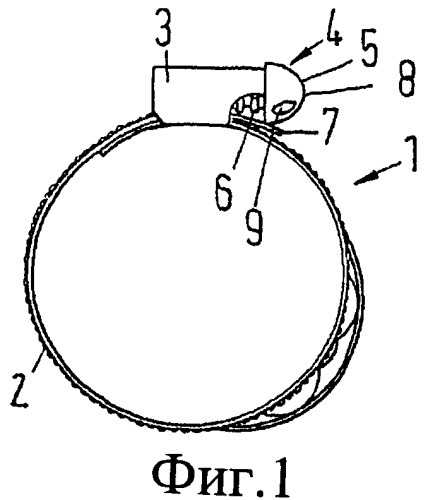 Хомут для шланга, содержащий стяжной винт, стяжной винт и инструмент для поворота стяжного винта