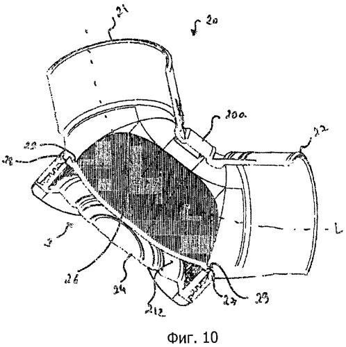 Звукоизолирующее колено трубопроводов для транспортировки текучих сред