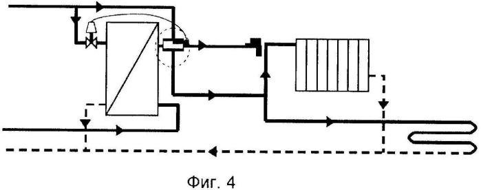 Отопительная система с ускорителем датчика